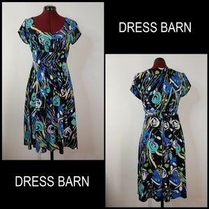 Dress Barn Woman Short Sleeve Stretch Dress Size 8